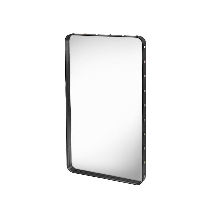 Miroir Adnet 115x70cm par Gubi en noir