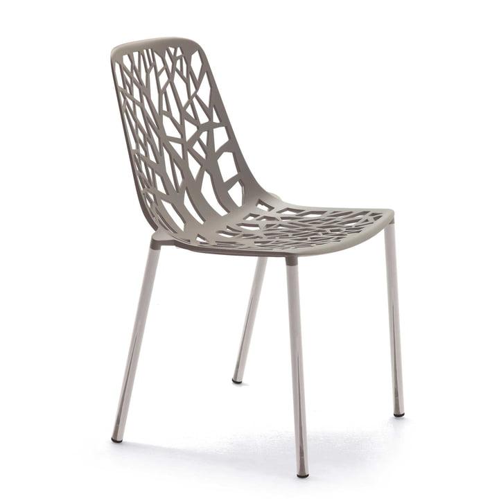 Chaise empilable Forest par Fast en taupe