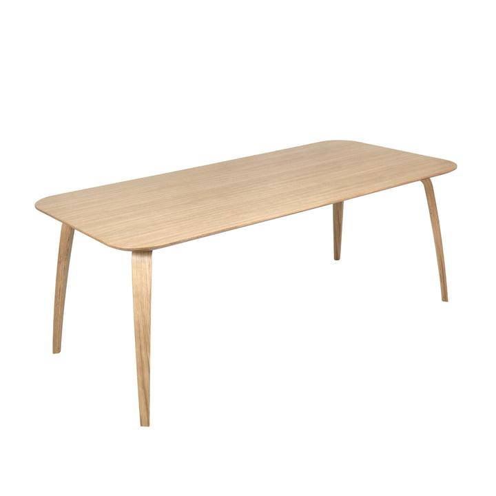Table de salle à manger rectangulaire 100 x 200 cm de Gubi en chêne