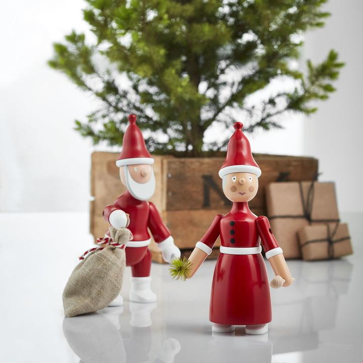 Mère Noël et père Noël par Kay Bojesen