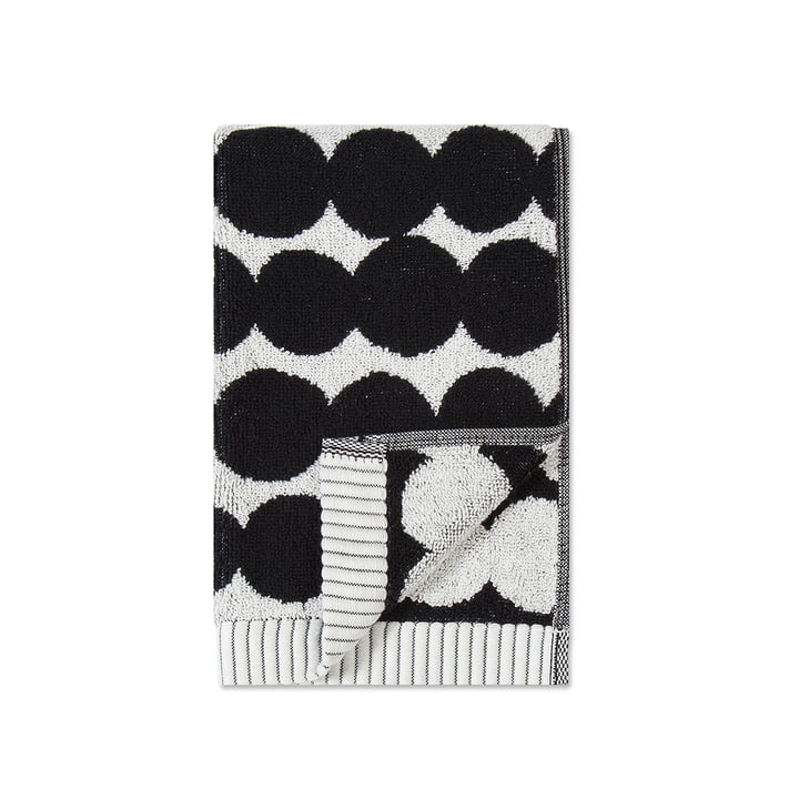 Räsymatto Serviette de toilette 30 x 50 cm de Marimekko en blanc / noir