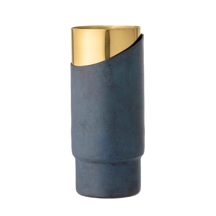 Bloomingville - Vase en métal H23cm, bleu