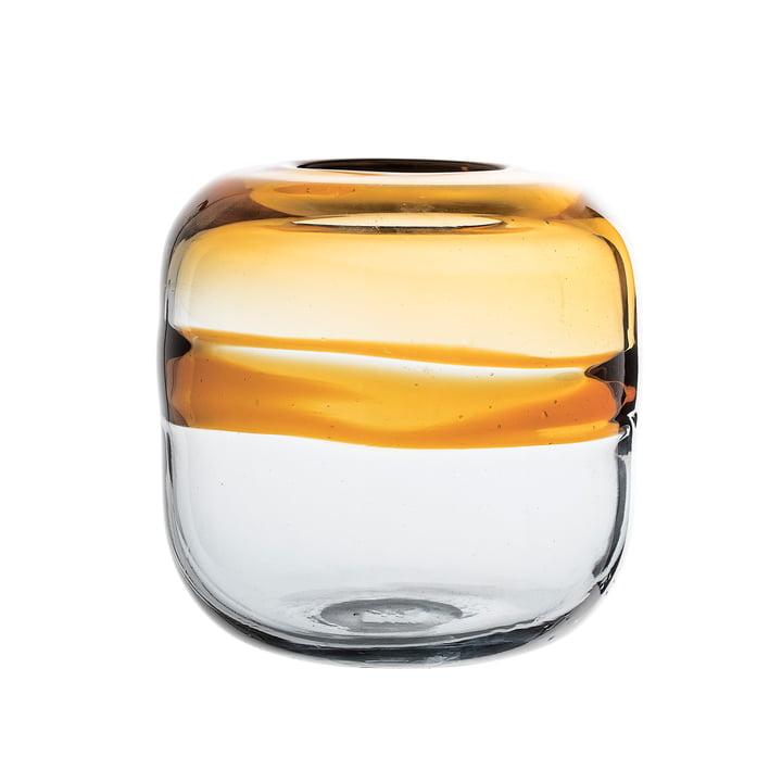 Vase en verre H16,5cm par Bloomingville en marron