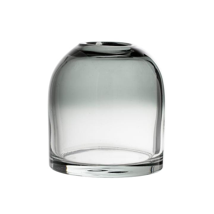 Le vase en verre H13cm, gris de Bloomingville