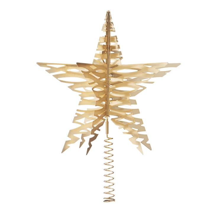 Étoile pour le sapin de Noël Tangle par Stelton en laiton