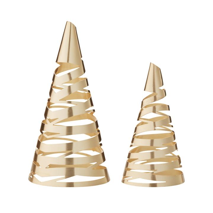 Arbres de Noël Tangle par Stelton, lot de 2, en laiton