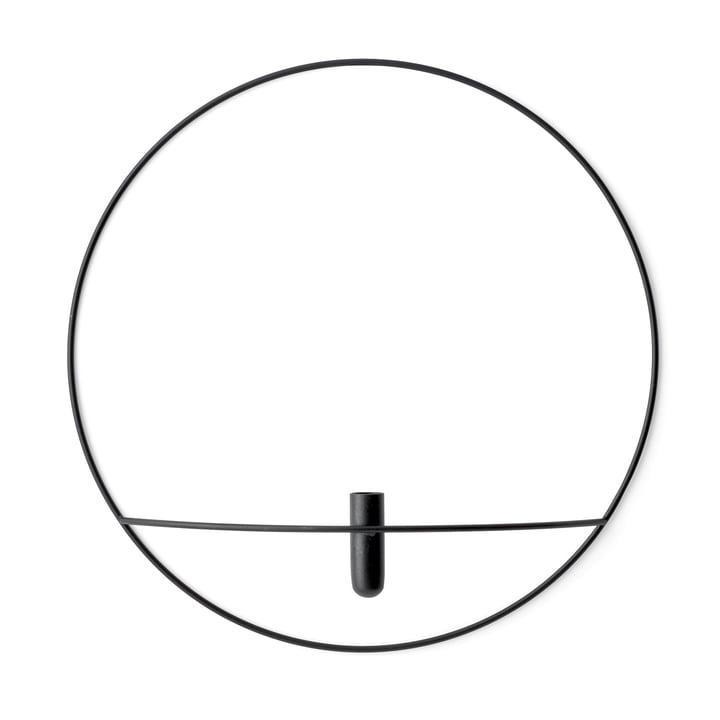 Pov Circle Vase L de Menu en noir