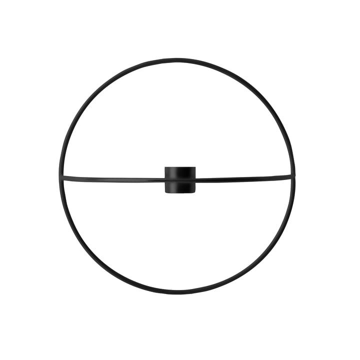 Le bougeoir Pov Circle de Menu, S en noir