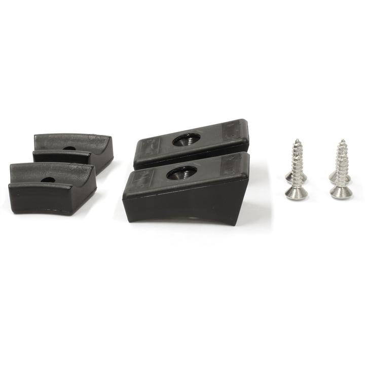 Thonet - patins pour chaise cantilever en acier tubulaire, plastique, noir