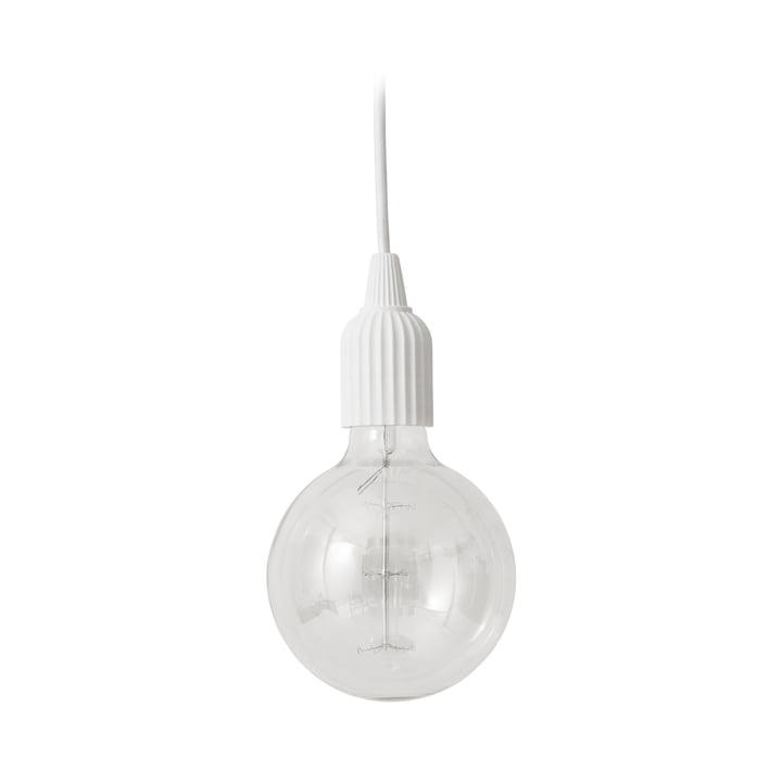 LP Fitting #01 Lampe à suspension de Lyngby Porcelæn en blanc