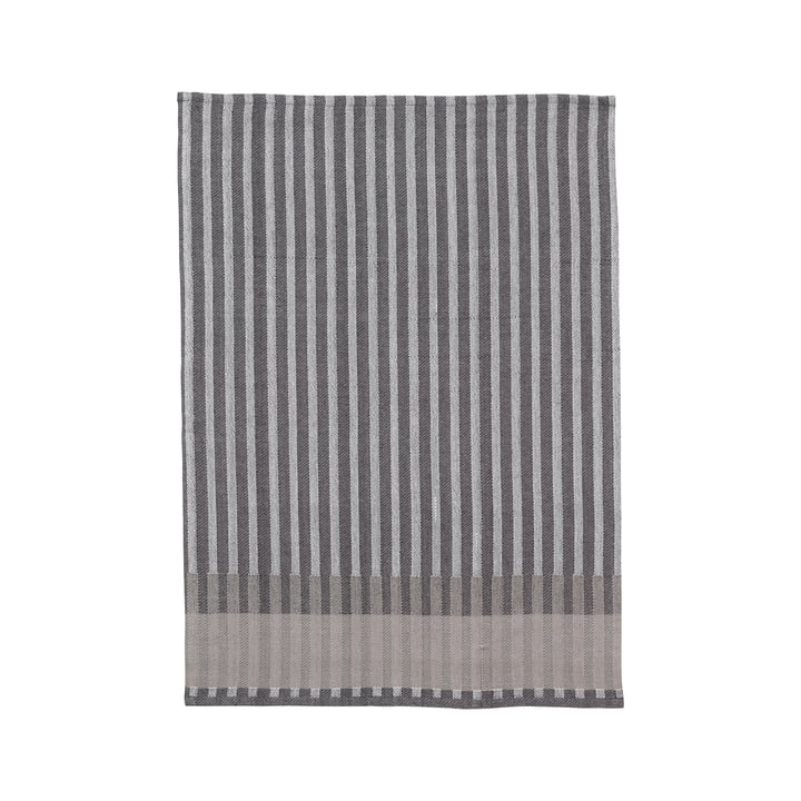 Torchon Jacquard grain de blé de Ferm Living in grey