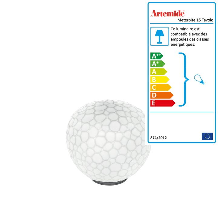 Artemide - Lampe de table Meteorite 15 Tavolo, blanc