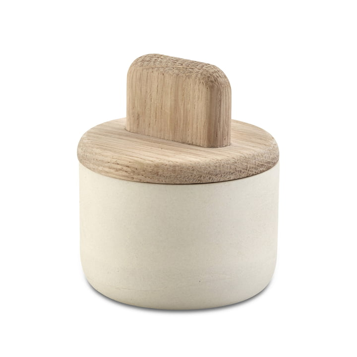 Boîte à épices Paddle par Skagerak en chêne / blanc