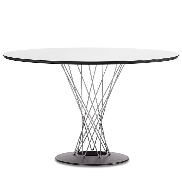 Vitra - Dining Table by Isamu Noguchi, Ø 121 cm, blanc / chrome