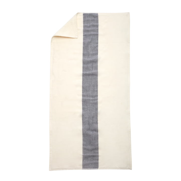 Skagerak - Serviette de bain Stripes, 70x140cm, blanc écru / bleu foncé