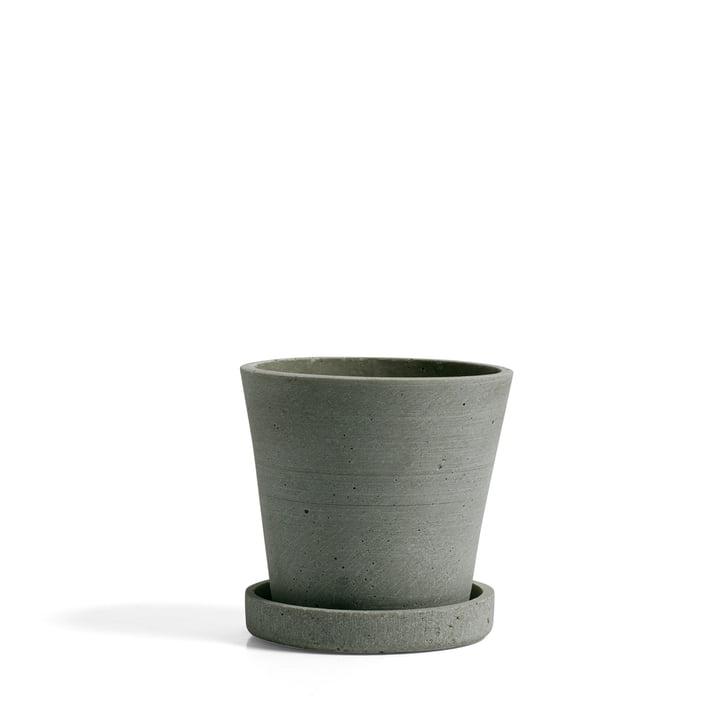 Hay - pot de fleur avec soucoupe S, par Hay, en vert