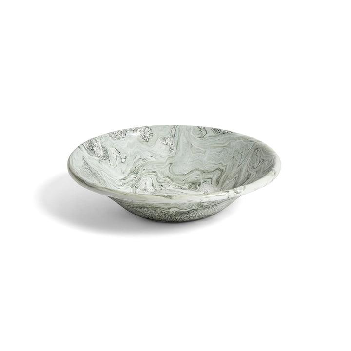 L'assiette creuse Soft Ice, Ø17cm, de Hay en vert