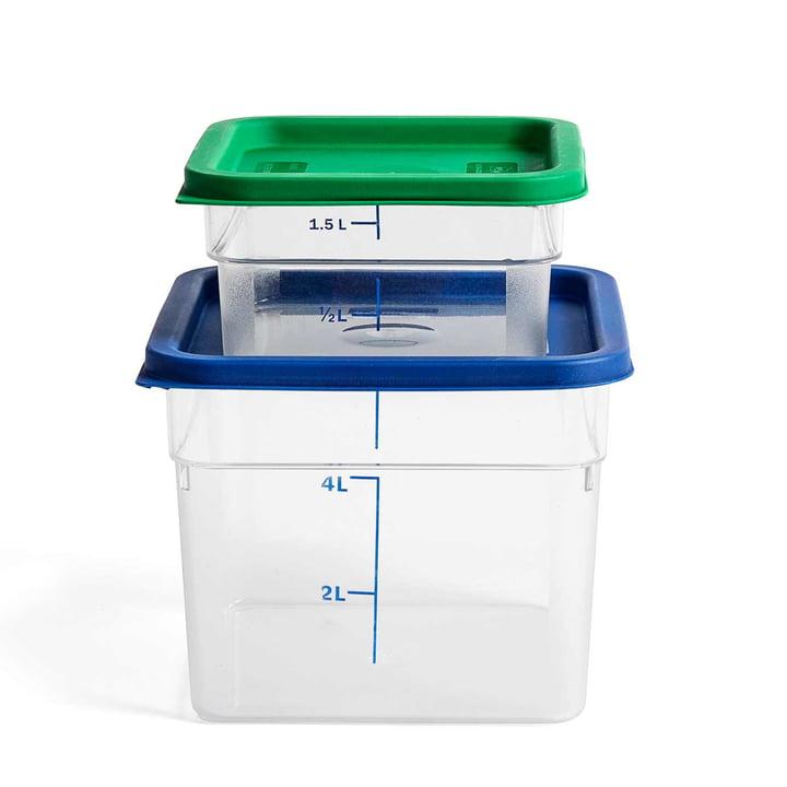 Boîte de rangement avec couvercle coloré de Hay