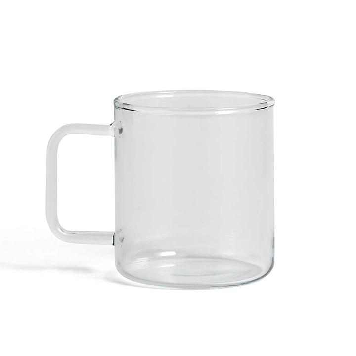 Tasse à café en verre par Hay en transparent