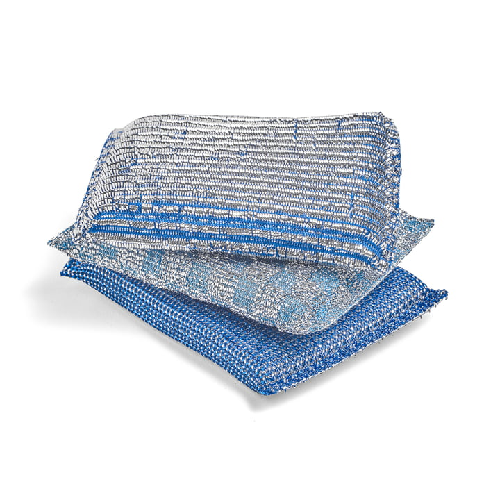 Hay - Éponge Glitter, bleu (set de 3)