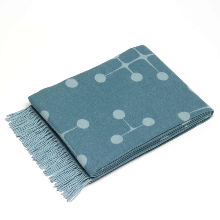 Vitra - Couverture Eames, motif à pois, bleu clair