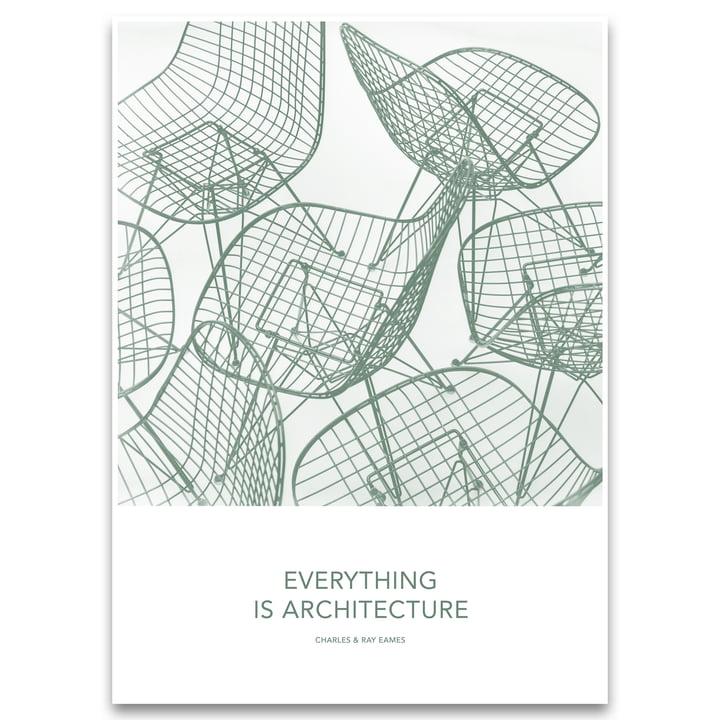 Eames cite l'architecture de l'affiche par Vitra