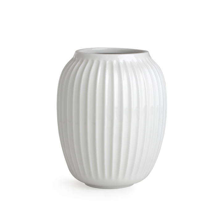 Vase Hammershøi H 20 cm de Kähler Design en blanc