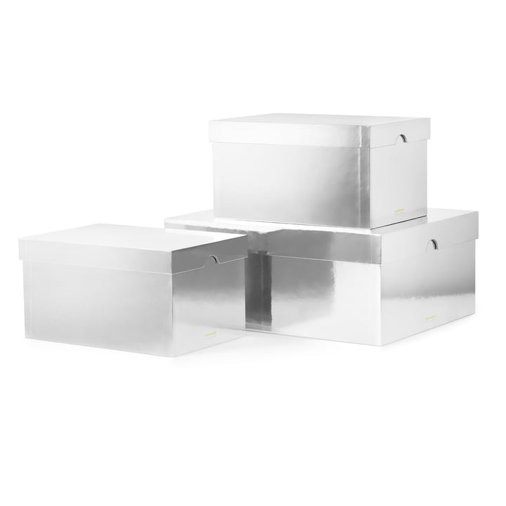 Les Metallic Boxes de Normann Copenhagen, argenté (lot de 3)