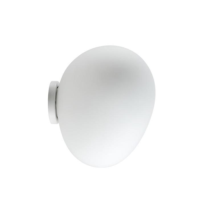 L'applique murale et plafonnier LED Gregg de Foscarini, midi/blanc