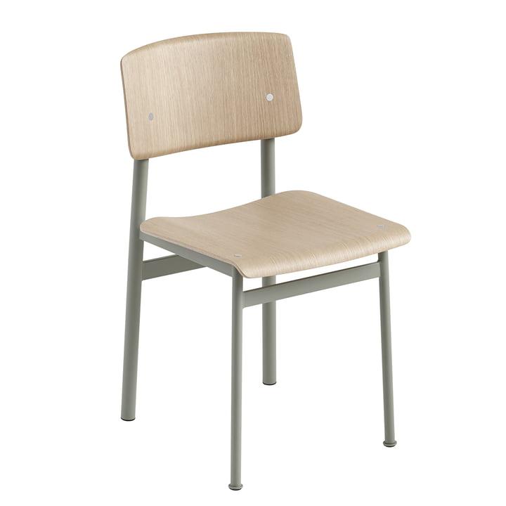 Chaise Loft par Muuto en chêne / vert poudreux