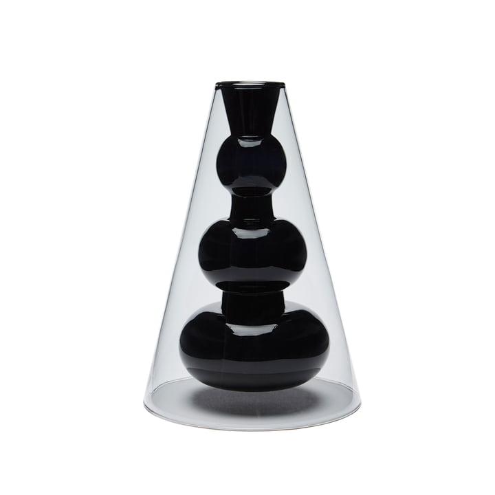 Vase cône Bump par Tom Dixon en gris / rose