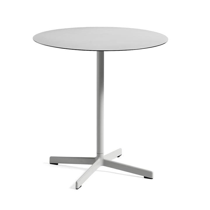 Table Neu Ø70cm par Hay en gris clair