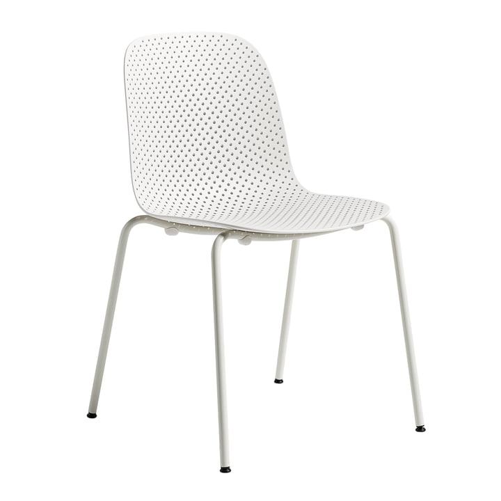 Chaise 13Eighty de Hay avec un piètement en grey white / assise chalk white