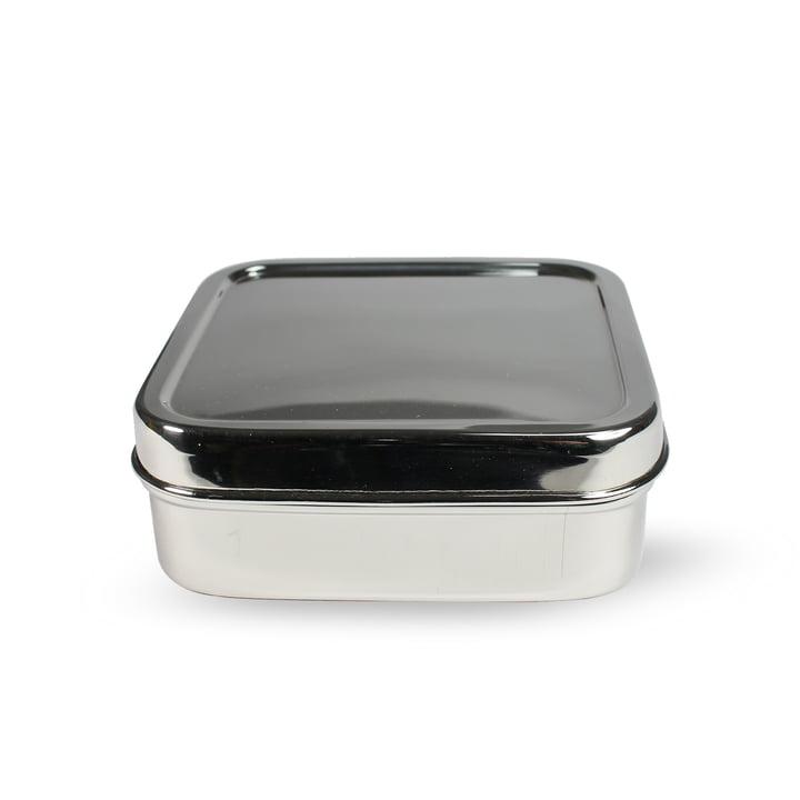Lunchbox en acier carrée S par Hay