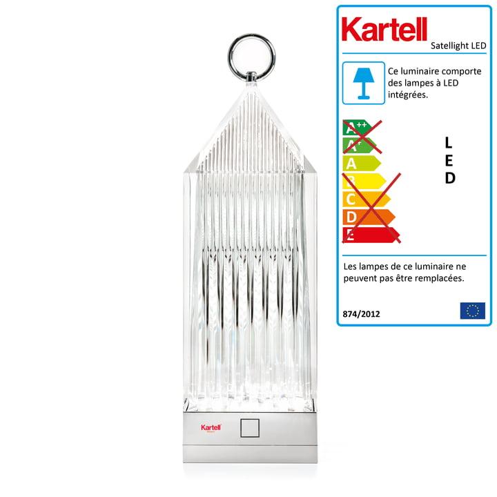 La lampe LED Lanterne de Kartell, verre transparent