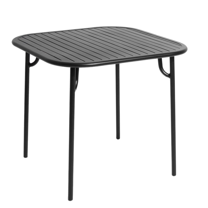 Petite Friture - Table Week-end, 85 x 85 cm / noir (RAL 9005)