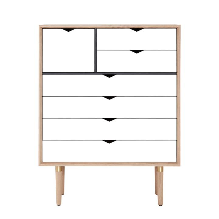 Andersen Furniture - Commode S8, chêne savonné/façade blanche