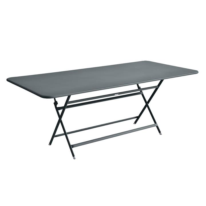 La table Caractère de Fermob 190 x 90 cm en gris orage