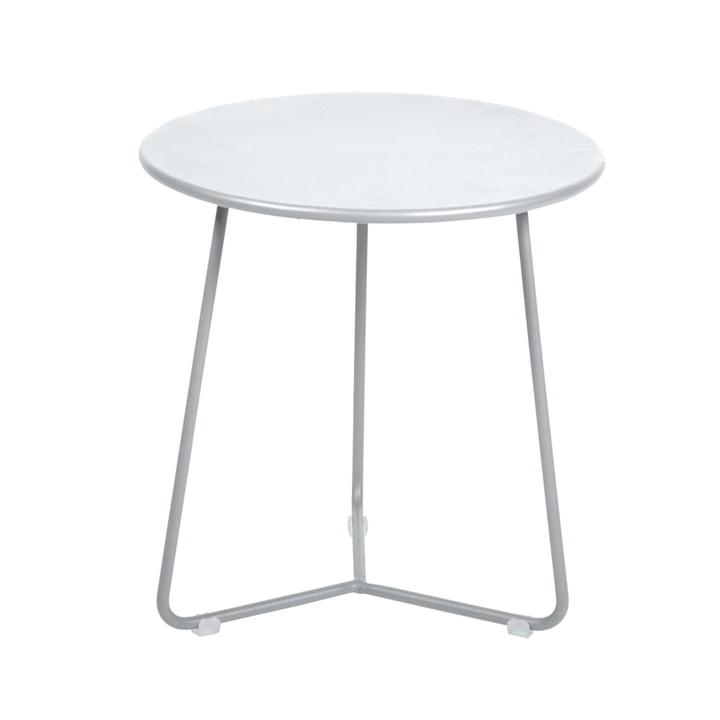 La table d'appoint / le tabouret Cocotte, Ø34cmxH36cm en blanc coton