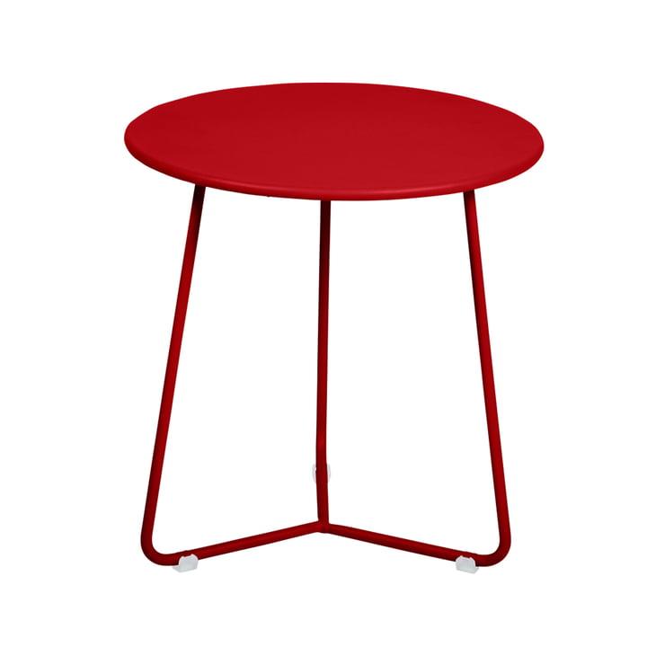 La table d'appoint / le tabouret Cocotte, Ø34cmxH36cm en rouge coquelicot