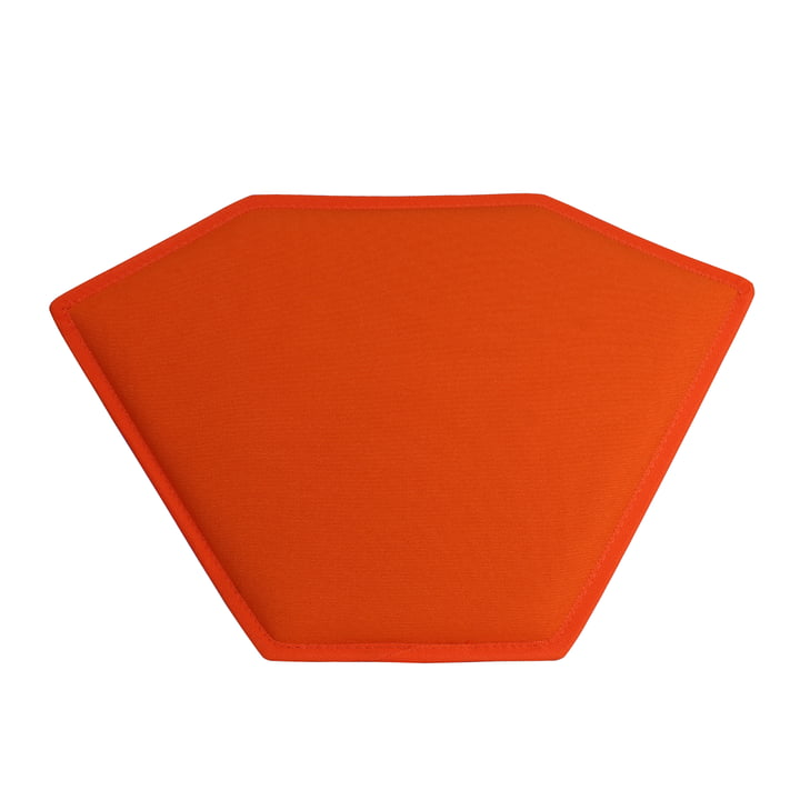 The Magis - Tabouret 1 coussin d'assise orange