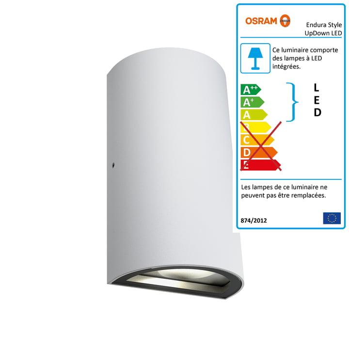 Applique murale d'extérieur Endura Style UpDown LED, IP 44 / blanc chaud 3000K par Osram en blanc