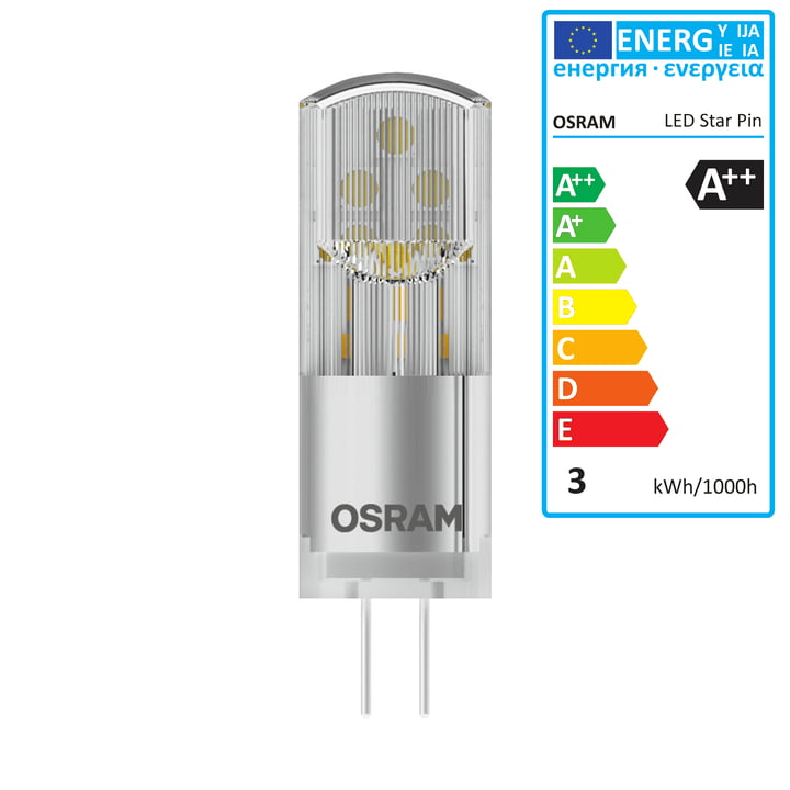 Osram - Ampoule Star Pin 30 LED, G4 / 12V, 2,4W, blanc chaud 2700K, 320lm, transparent
