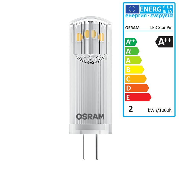 Osram - Ampoule Star Pin 20 LED, G4 / 12V, 1,8W, blanc chaud
