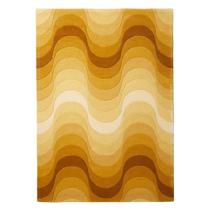 Le tapis Wave de Verpan, 240x170cm en jaune