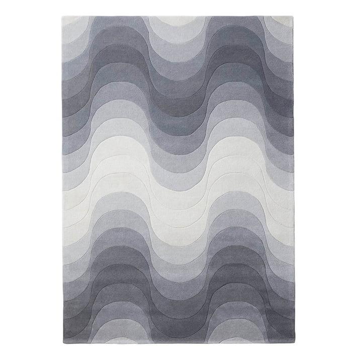 Le tapis Wave de Verpan, 240x170cm en gris