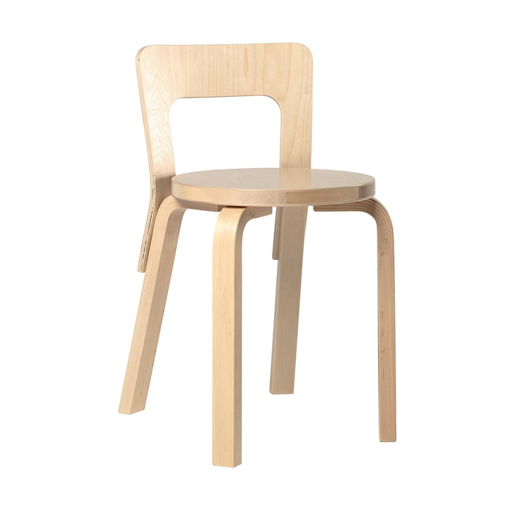 Chaise 65 par Artek, placage de bouleau