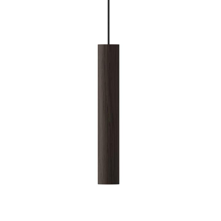 La Umage - lampe Chimes pendante LED, Ø 3 x 22 cm, chêne foncé