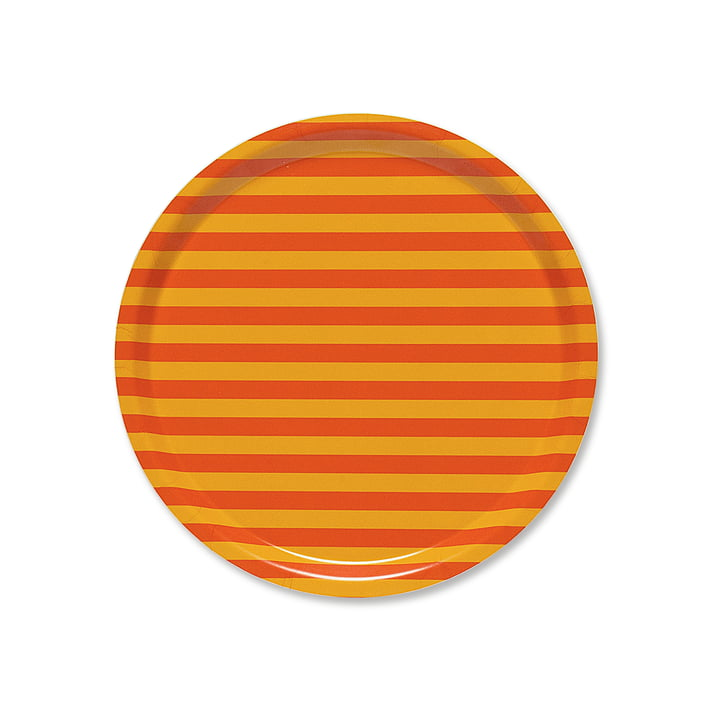 Plateau Tasaraita Ø31cm par Marimekko en orange / jaune