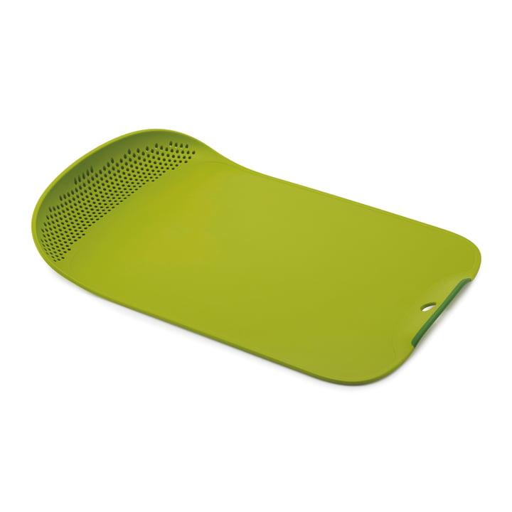 Planche à découper avec passoire Chop & Drain de Joseph Joseph en vert